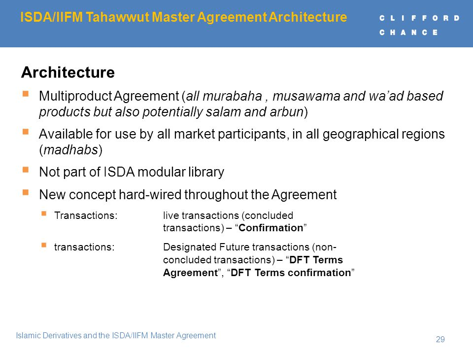 Order of the presentation ppt download isdaiifm tahawwut master agreement architecture platinumwayz