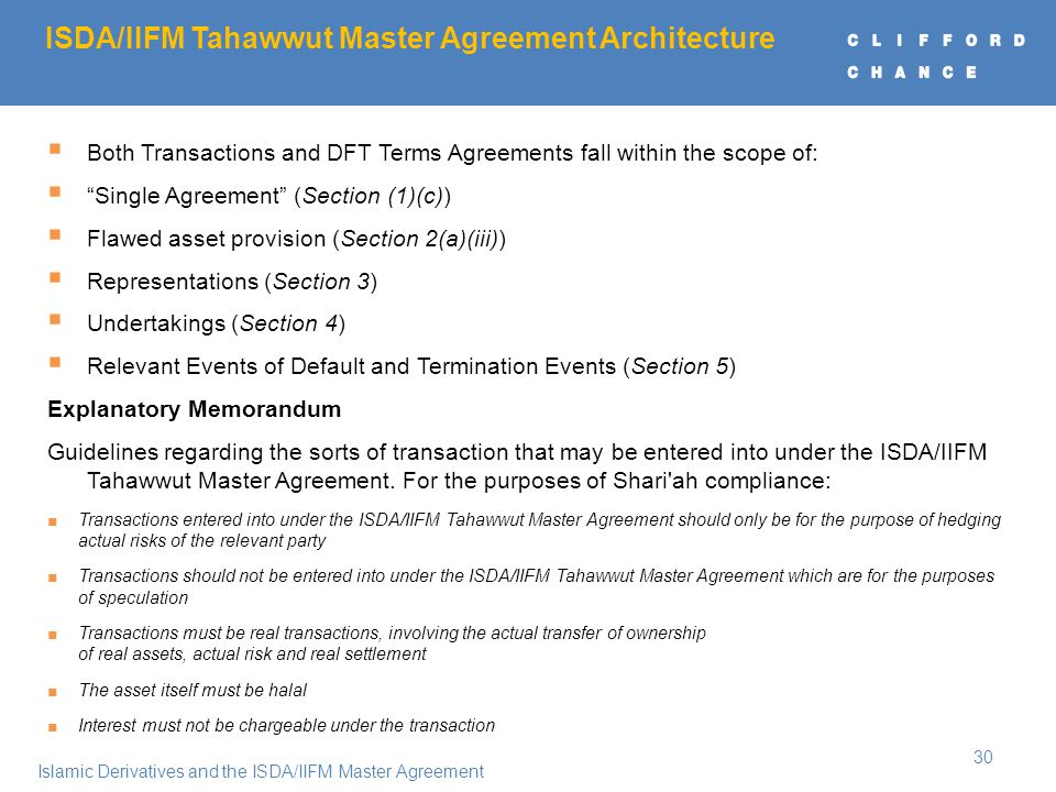Order of the presentation ppt download tahawwut master agreement architecture 31 preliminaries platinumwayz