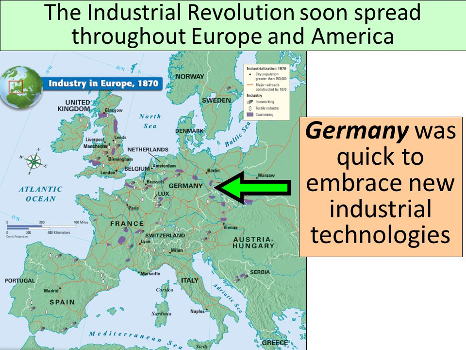 Germany was quick to embrace new industrial technologies