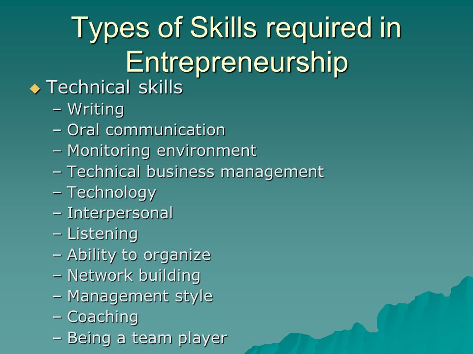 the technical skills required in writing