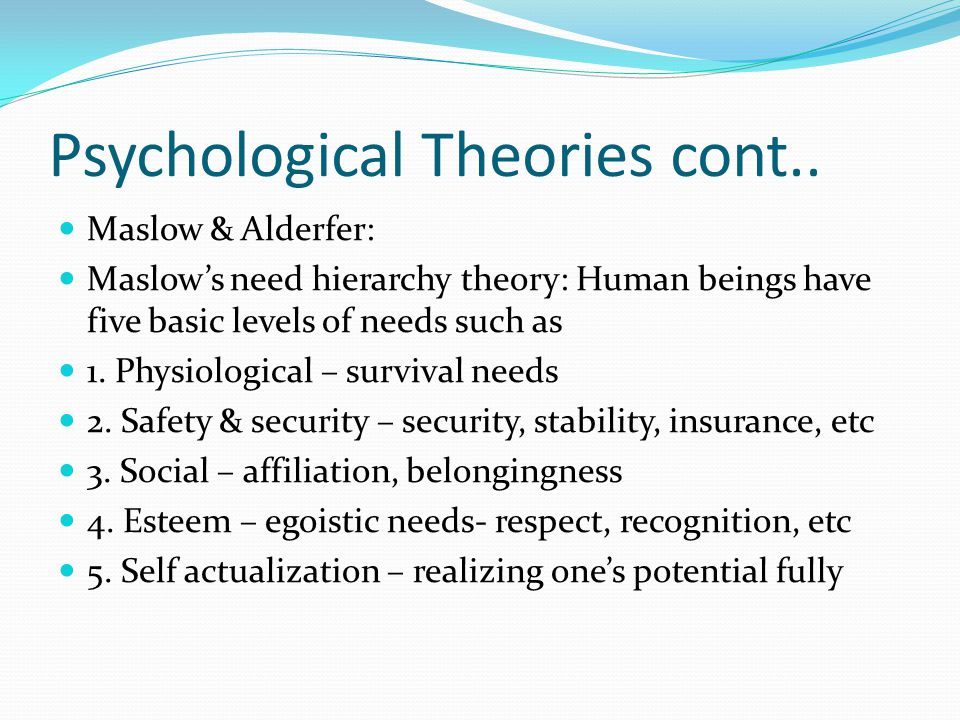 psychology theory