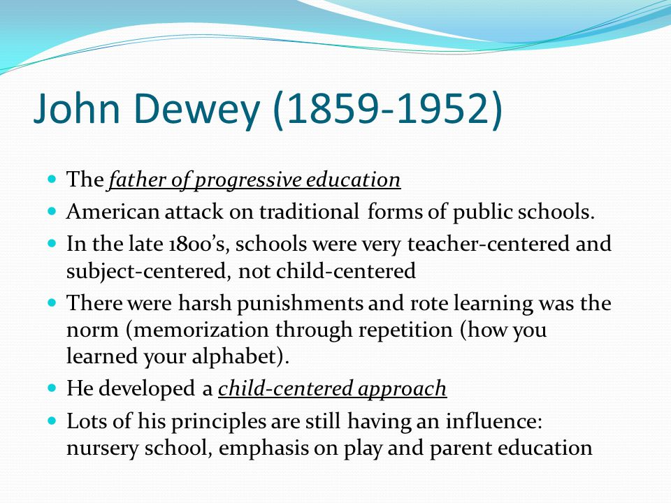 Traditional or Passive Education by John Dewey Essay Paper