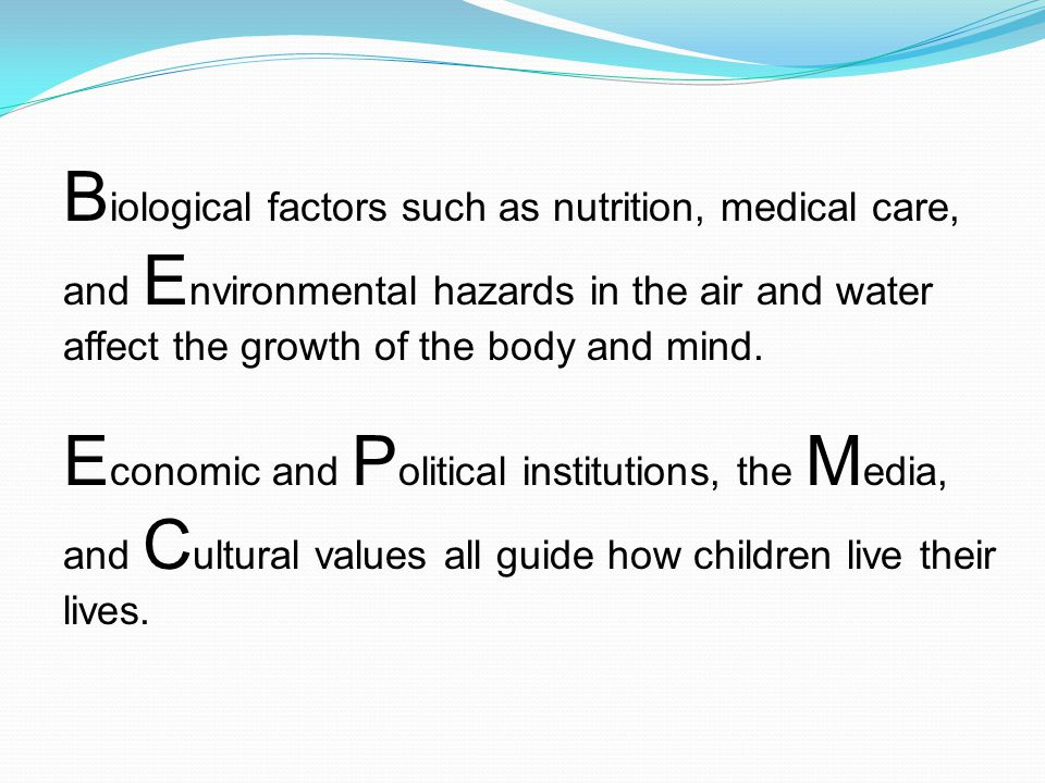 biological factors of the environment What biological factors increase risk of addiction scientists estimate that genetic factors account for between 40 and 60 percent of a person's vulnerability to addiction this includes the effects of environmental factors on the function and expression of a person's genes.