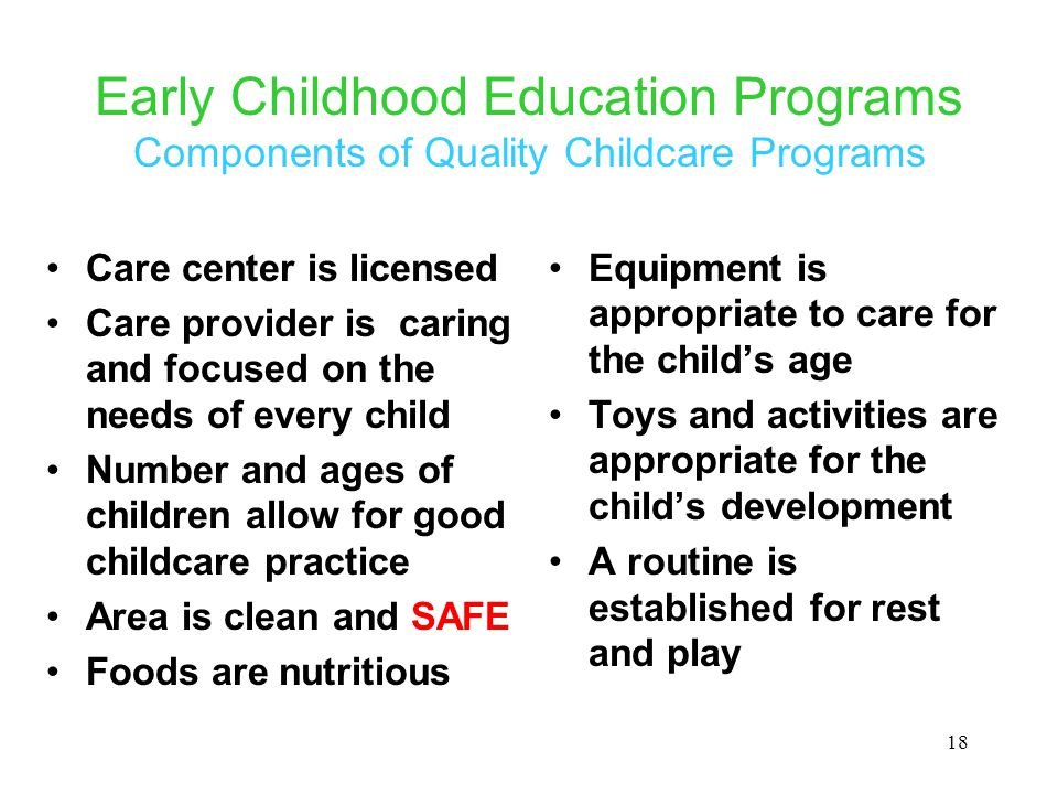 the quality of early child care and childrens development essay Quality child care is important it promotes brain development, school readiness and reduced stress for guardians everyone benefits.