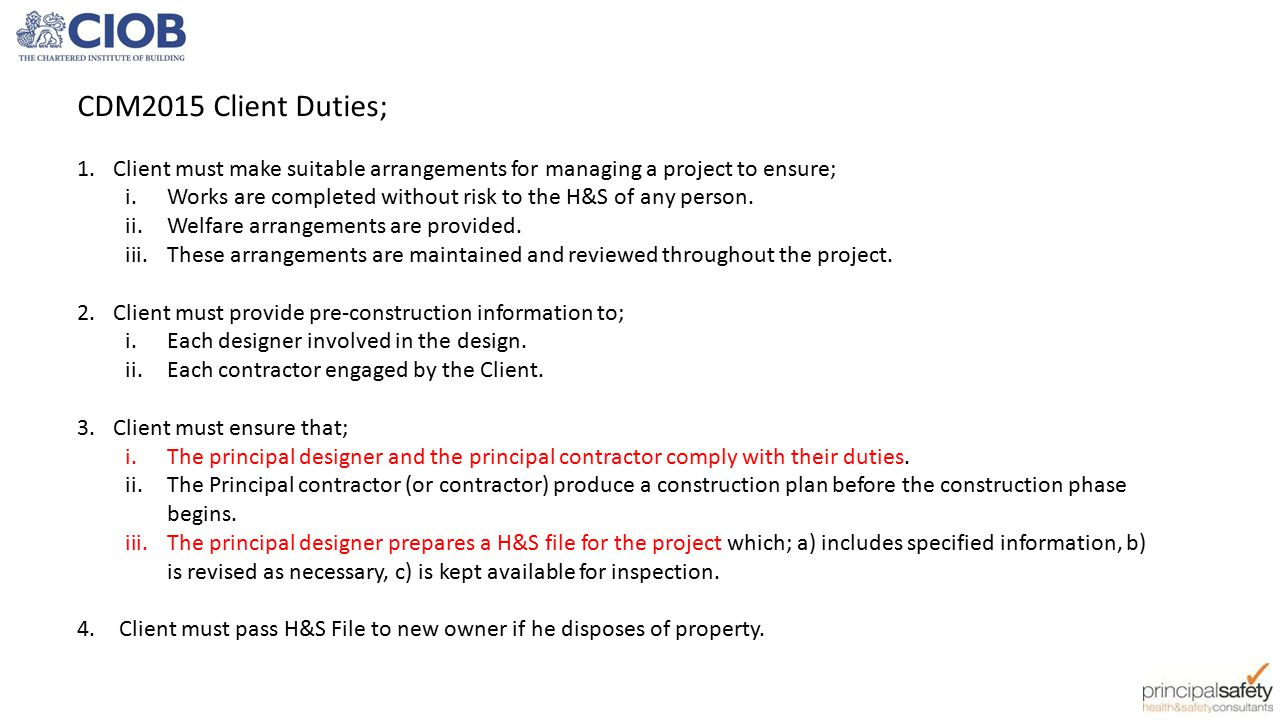 Construction design and management regulations 2007 for Cdm construction phase plan template