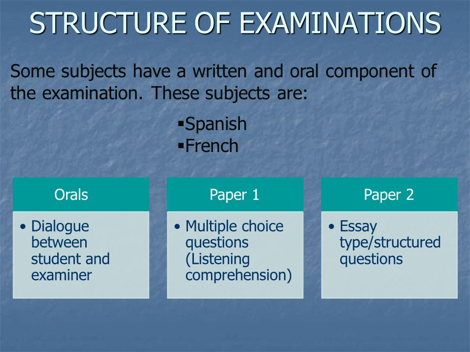 structured essay type questions