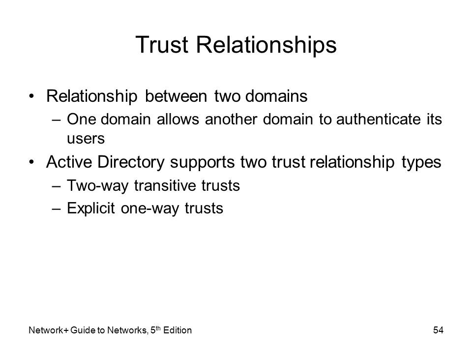 build trust relationship between two domains