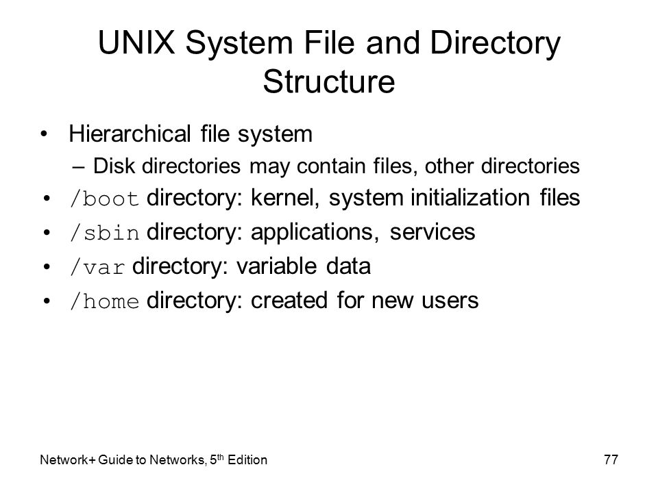 working with unix files and directories