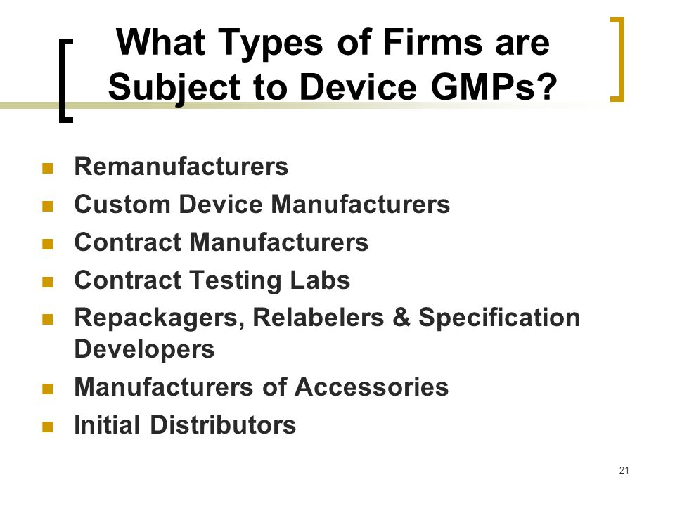 good manufacturing practices for medical devices pdf
