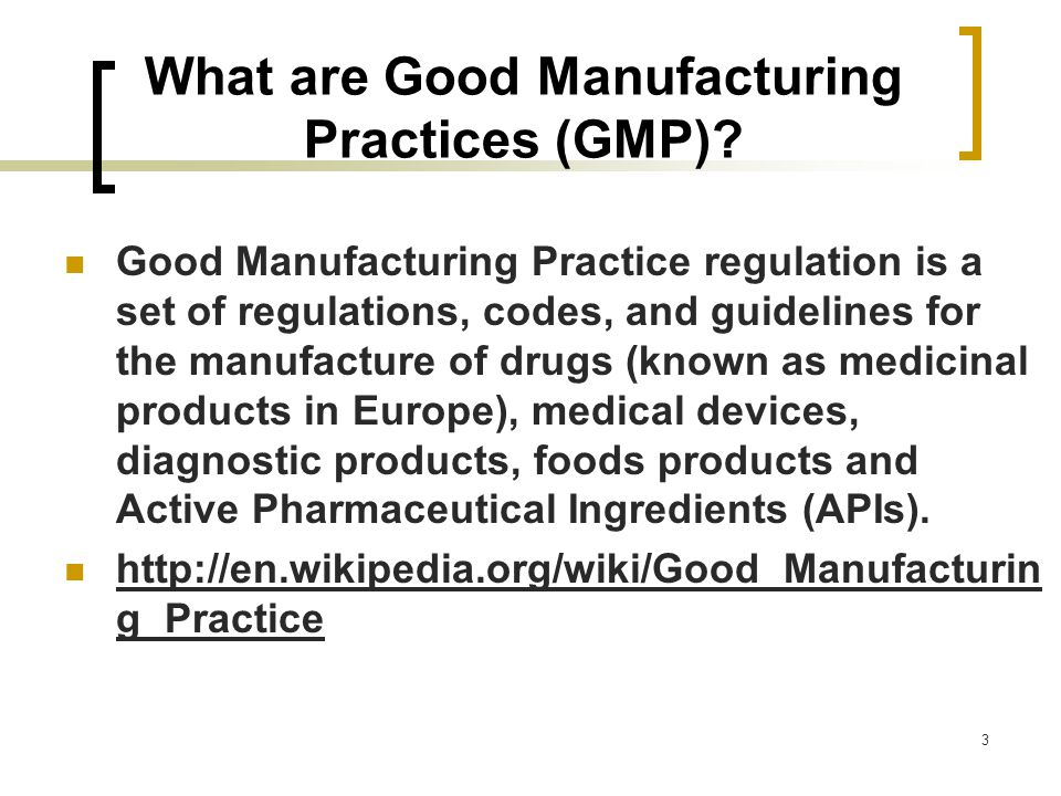good manufacturing practice Good manufacturing practices (gmp) are the practices required in order to  conform to the guidelines recommended by agencies that control authorization  and.