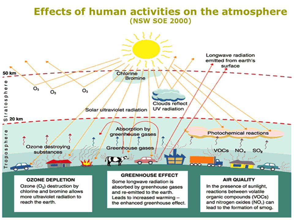 an overview of the effects of air pollution on global warming and ozone depletion The main focus of public concern over air pollution is its short- term and long-term effects on human health urban air pollution is a significant cause of death and illness in.