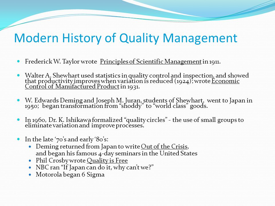 Implication of Total Quality Management (Tqm) in Motorola Industry