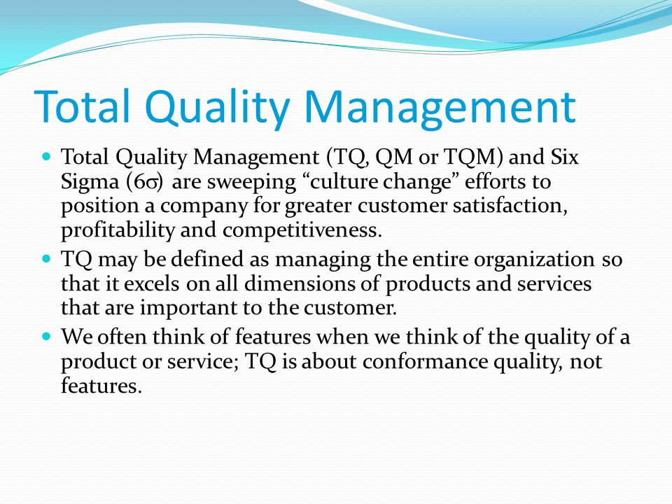 total quality management on prison services It aims to give prisoners access to the same quality and range of health services as the general  a total of 61 prison suicides  medication management,.