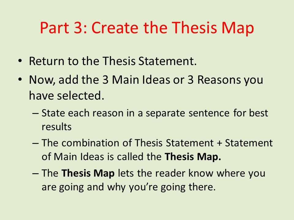 Part 3: Create the Thesis Map