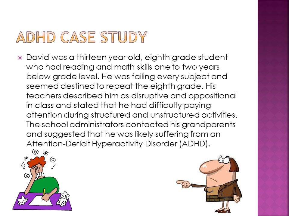 Professional case study writing on a child with adhd