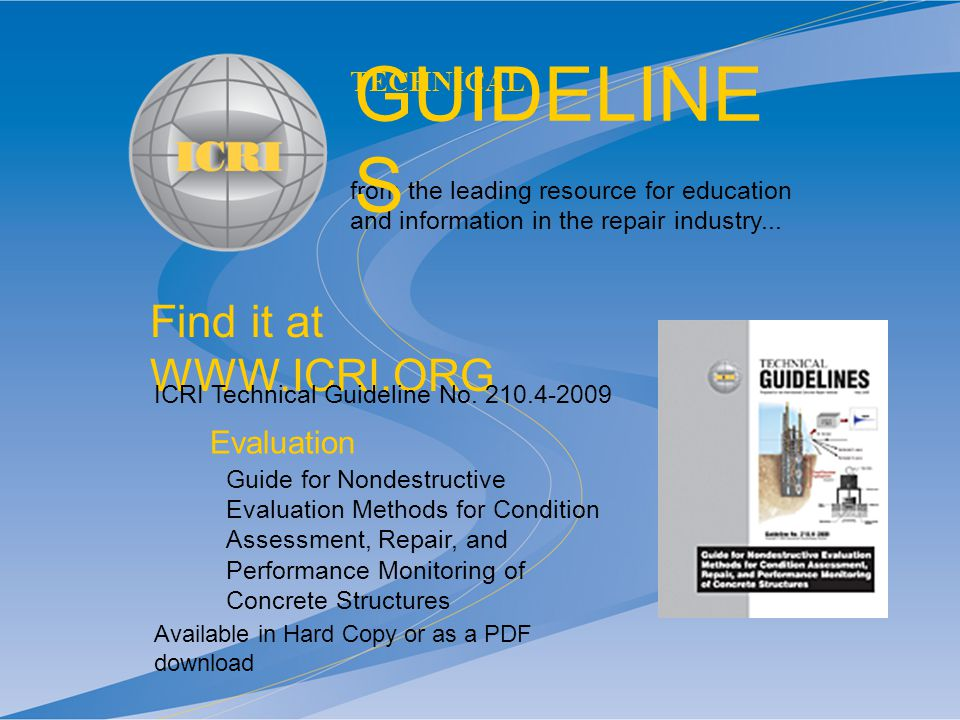 icri technical guideline no 03730 pdf