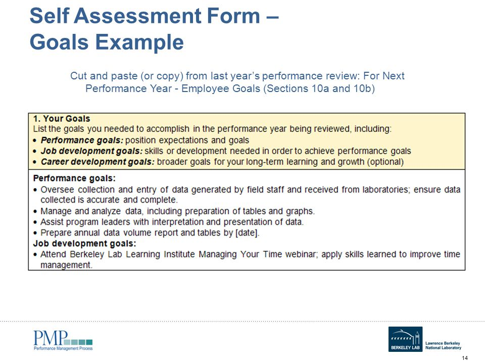 Annual Self Assessment Workshop for Employees ppt download – Self Performance Review Example