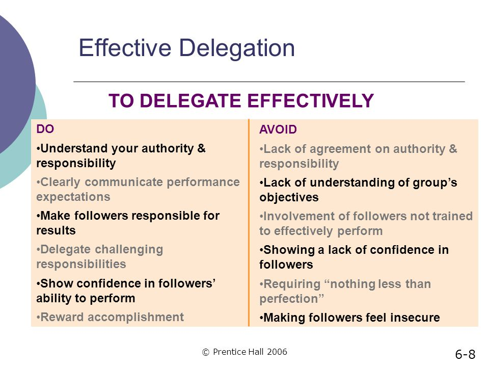 TO DELEGATE EFFECTIVELY