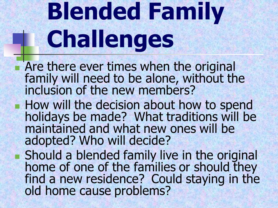 Uniting Blended Families