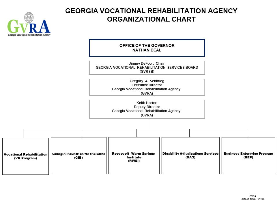 GEORGIA VOCATIONAL REHABILITATION AGENCY ORGANIZATIONAL ...
