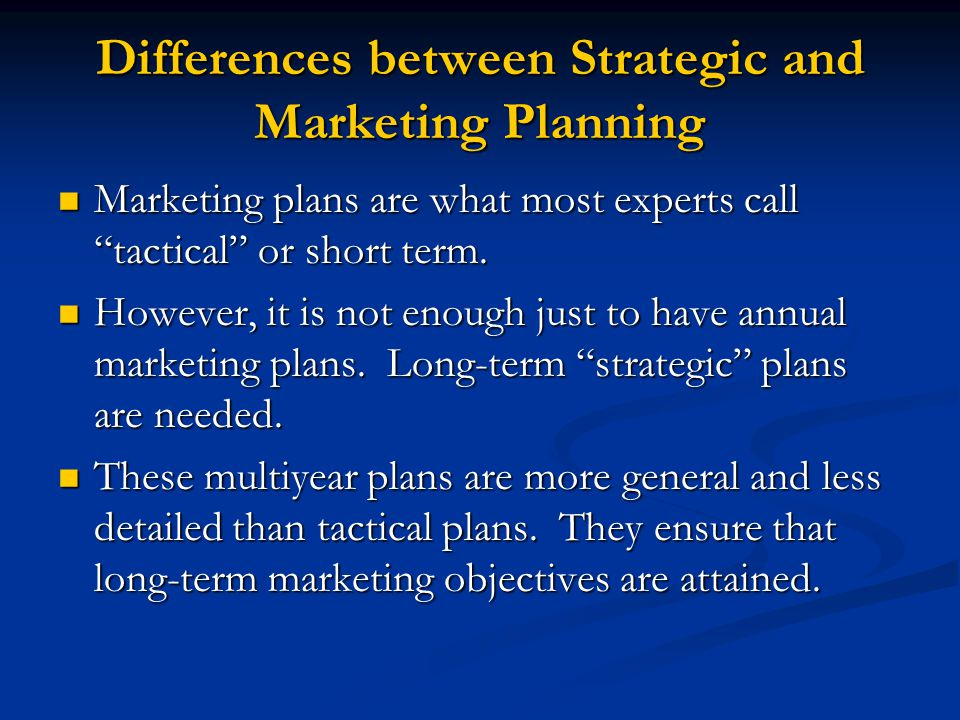 difference between the planners and the