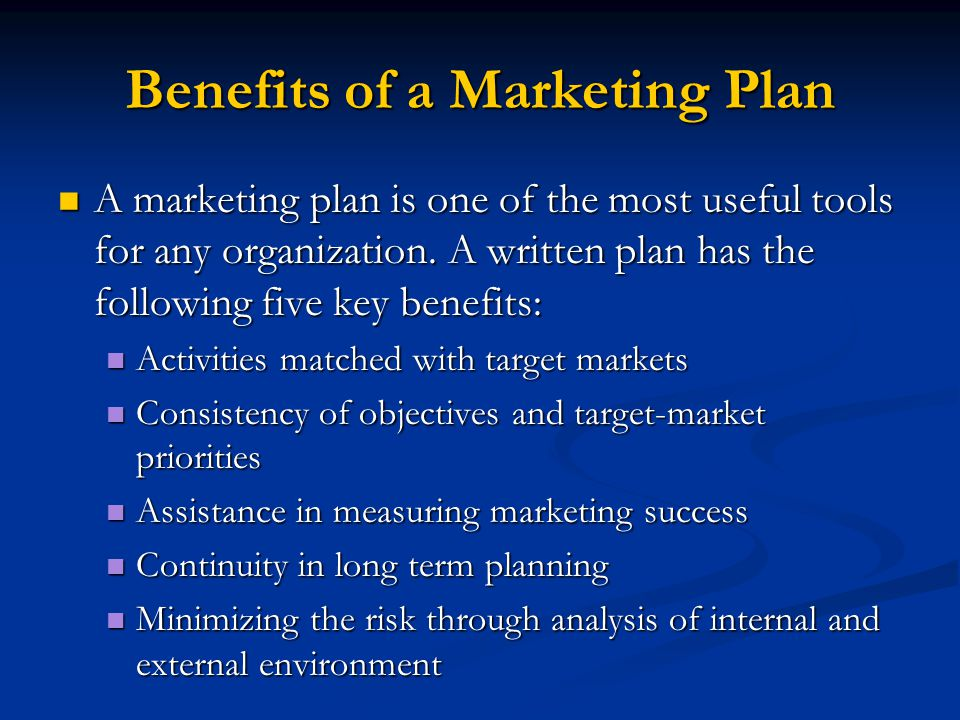 benefits of a marketing plan for Having a well-defined persona can help you build a better marketing plan in the  long run and help you target your marketing campaigns and.