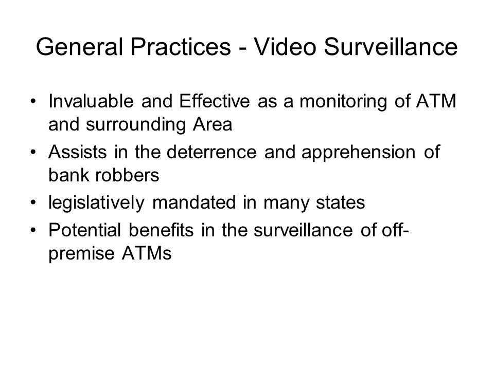 General Practices - Video Surveillance