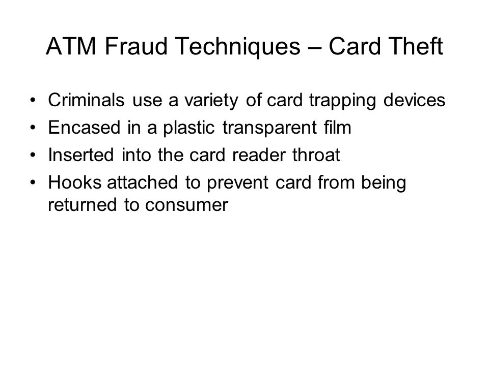 ATM Fraud Techniques – Card Theft