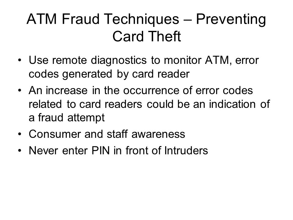 ATM Fraud Techniques – Preventing Card Theft