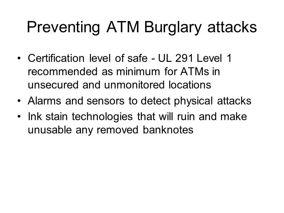 Preventing ATM Burglary attacks