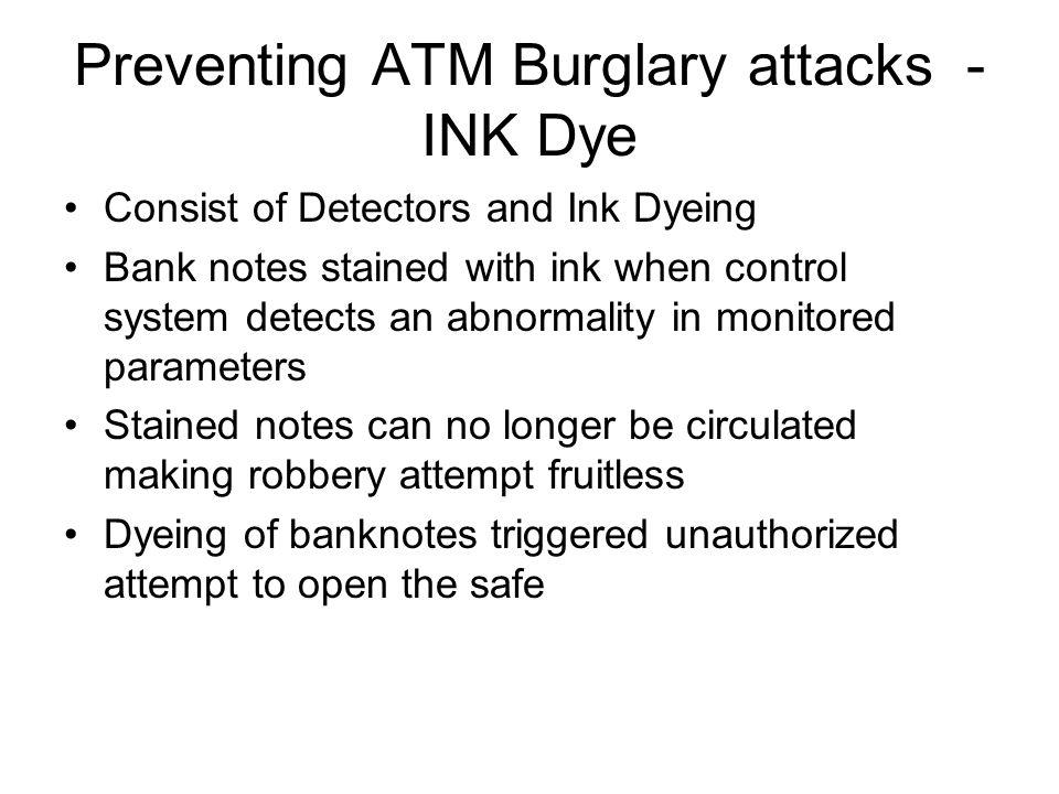 Preventing ATM Burglary attacks - INK Dye