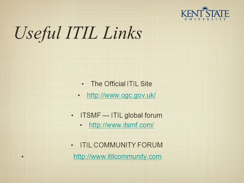 ITSMF — ITIL global forum