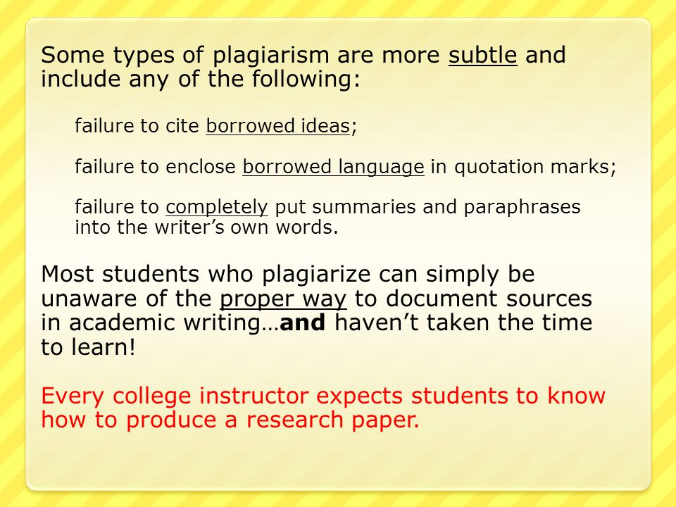 types of plagiarism found in essays The purdue university online writing lab serves writers from around the world and the purdue university writing  there are two common types of papers written in.