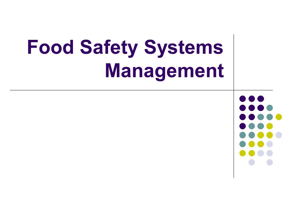 food safety management systems Food safety management system certification of an organization's fsms is one of the means of providing assurance that the certified organization has implemented a system for the food safety management of its processes, activities, products and services in line with the organization's food safety policy and the requirements of iso 22000.