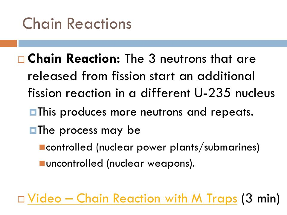 Examples List on Nuclear Fission
