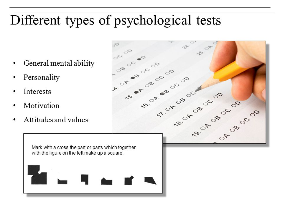 Different types of psychological tests