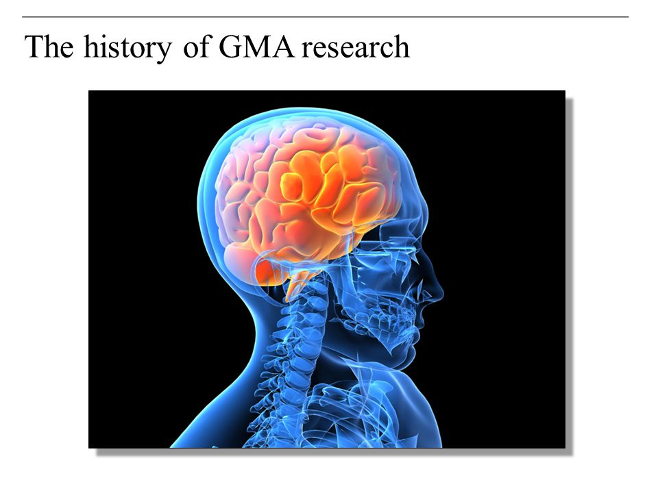 The history of GMA research