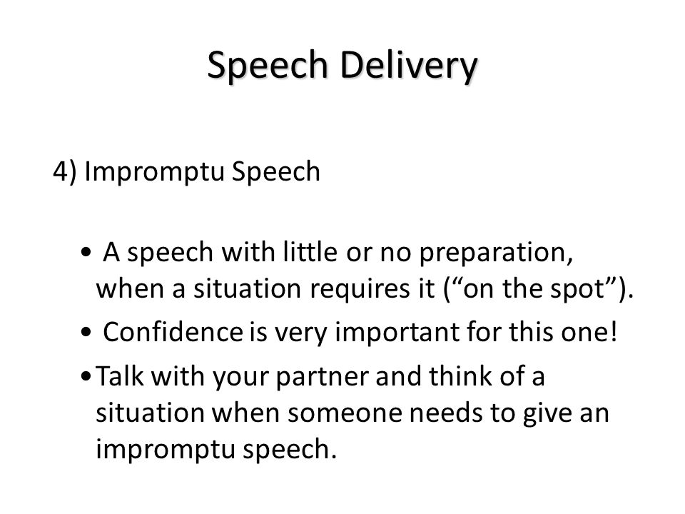 the importance of oral delivery in speech Speech is an effective means of oral communication it is delivered in front of a large gathering therefore, speech serves as an important medium for presenting information in meetings, political or business gatherings.