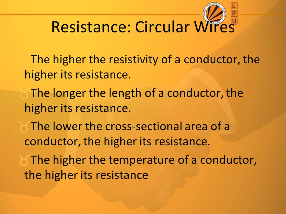 Resistance: Circular Wires