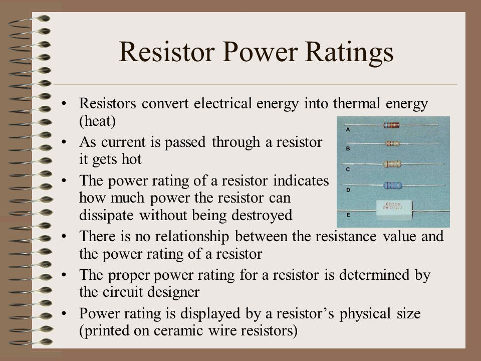 Resistor Power Ratings