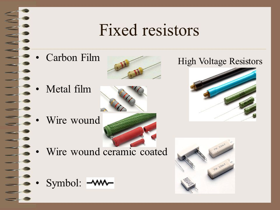 Electric Motor Wiring Schematic besides Types Of Ldr Sensor in addition A Is A Three Terminal Variable Resistor That S Often Used To Adjust Motor Speed also House Wiring Wire Size Chart as well 12 Lead 3 Phase Motor Wiring Diagram. on resistor types resistors fixed variable linear non