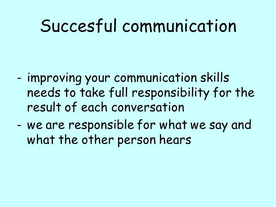 Succesful communication