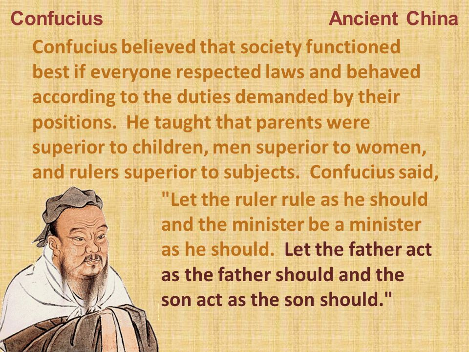 ideal person according to confucius An ideal person according to confucianism has a self that is social, and it respects the relations like a relation to parent, or sibling, or a friend, etc, and.