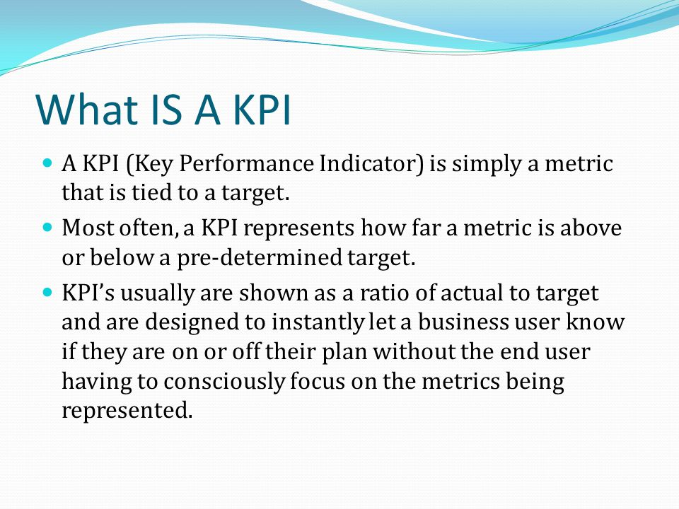 what is a kpi pro actions business coaching supportpro