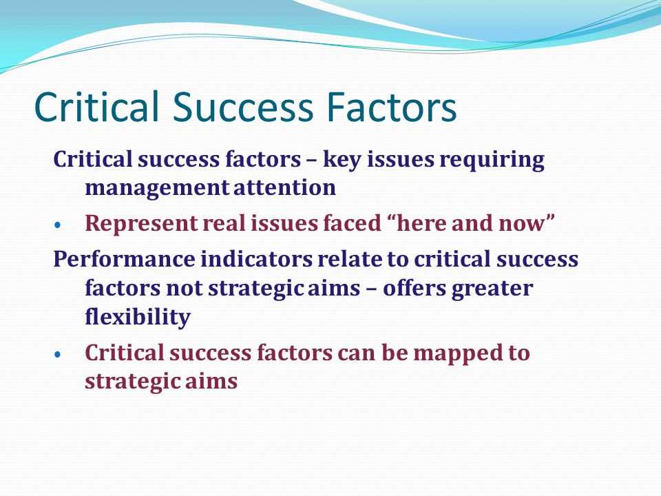 critical success factors and key performance indicators pdf