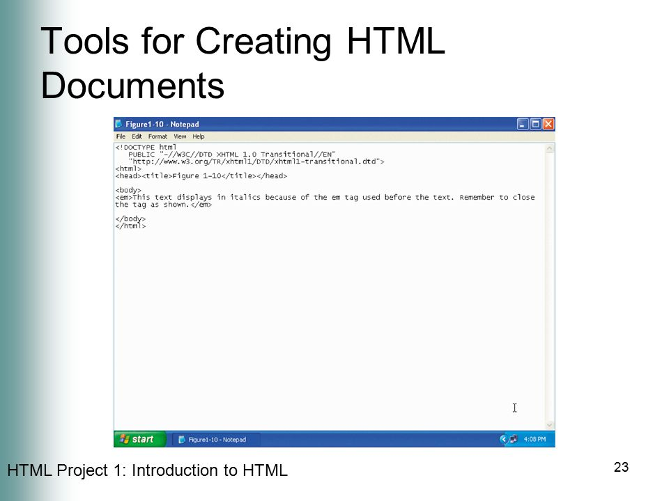 Tools for Creating HTML Documents