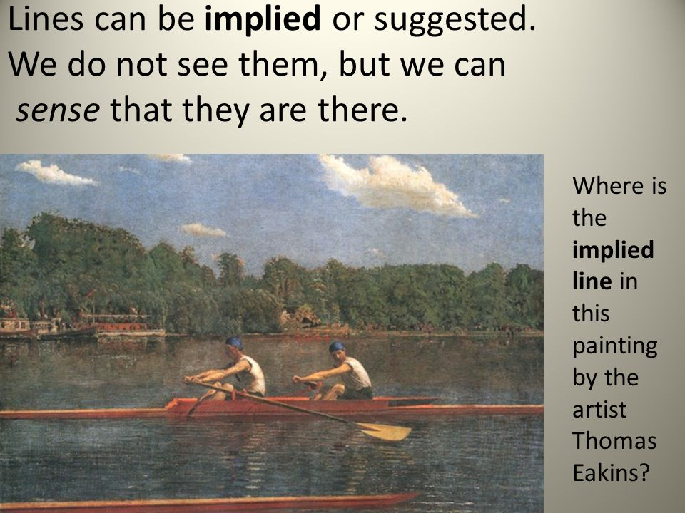 Implied Lines In Art : Tools and building blocks for art ppt video online download
