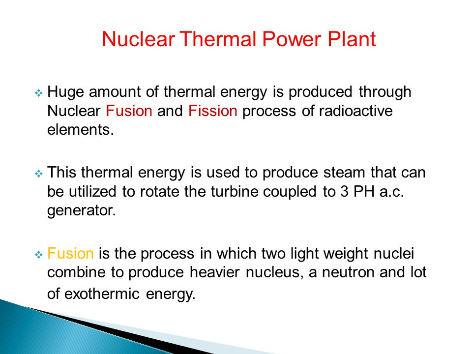 Nuclear Thermal Power Plant