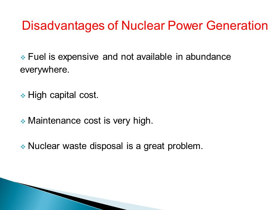 Disadvantages of Nuclear Power Generation