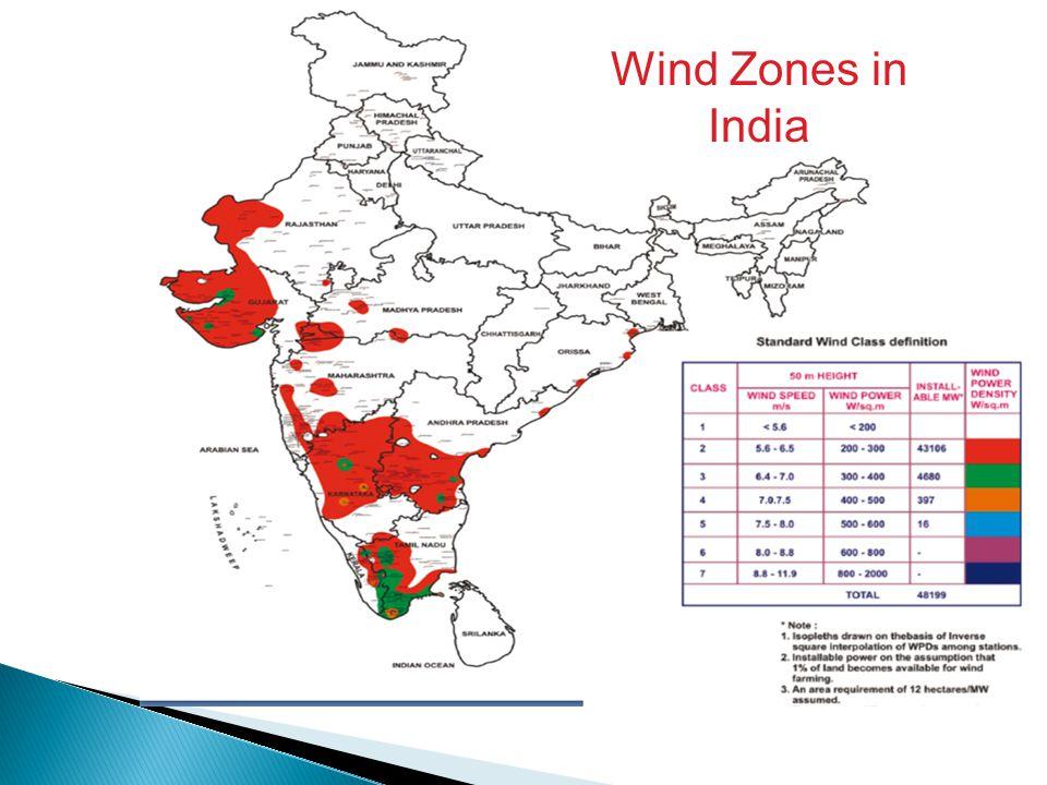 Wind Zones in India